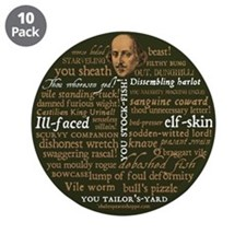 """Shakespeare Insults 3.5"""" Button (10 pack)"""