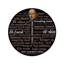 "Shakespeare Insults 3.5"" Button"