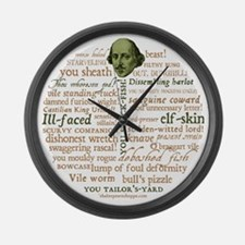 Shakespeare Insults Large Wall Clock