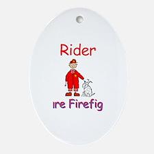 Rider - Future Firefighter Oval Ornament