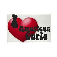 """""""I Love AmCurls"""" Rectangle Magnet"""