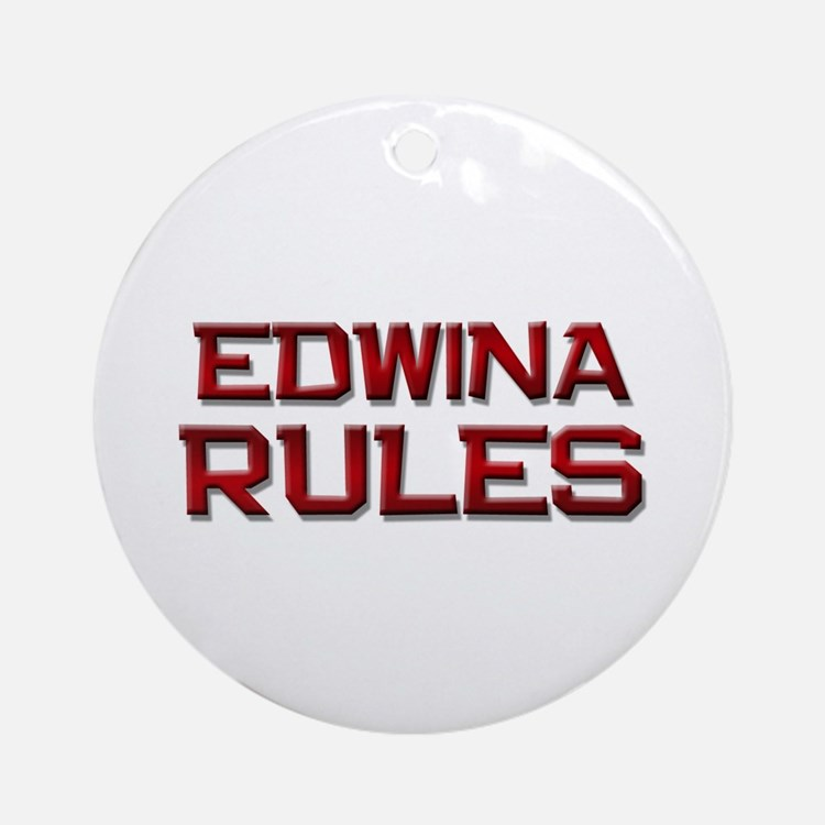 edwina rules Ornament (Round)