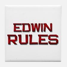 edwin rules Tile Coaster