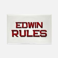 edwin rules Rectangle Magnet