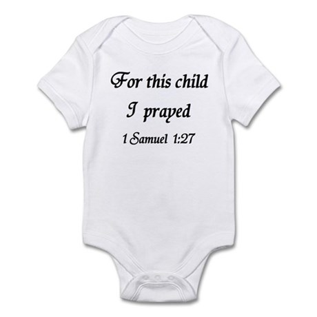 For This Child I Prayed, 1 Samuel, Infant Bodysuit