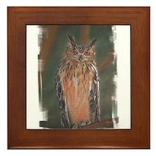 Owl Framed Tile