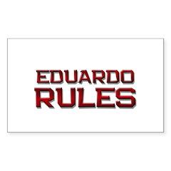 eduardo rules Rectangle Decal