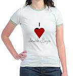 I Love (heart) Jewish Boys Jr. Ringer T-Shirt
