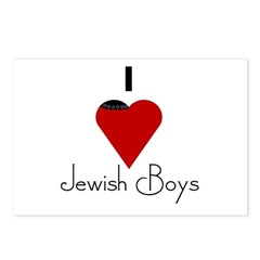 I Love (heart) Jewish Boys Postcards (Package of 8