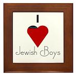 I Love (heart) Jewish Boys Framed Tile