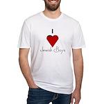 I Love (heart) Jewish Boys Fitted T-Shirt
