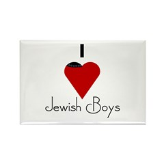I Love (heart) Jewish Boys Rectangle Magnet