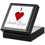 I Love (heart) Jewish Boys Keepsake Box