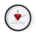 I Love (heart) Jewish Boys Wall Clock