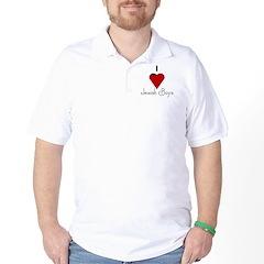 I Love (heart) Jewish Boys Golf Shirt