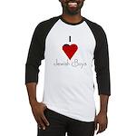 I Love (heart) Jewish Boys Baseball Jersey