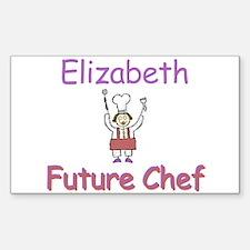 Elizabeth - Future Chef Rectangle Decal