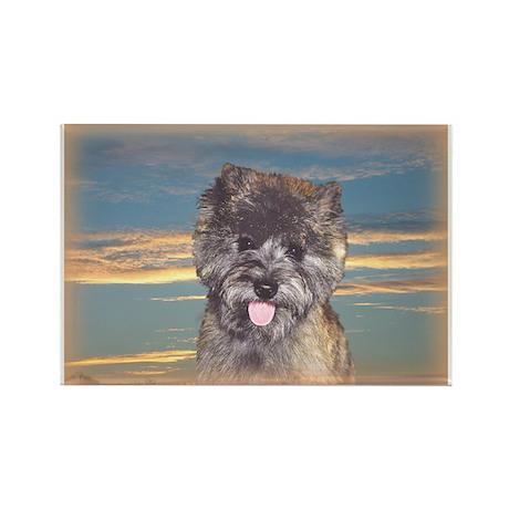 "Cairn Terrier ""Skye"" Rectangle Magnet"