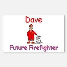 Dave - Future Firefighter Rectangle Decal