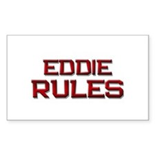 eddie rules Rectangle Decal
