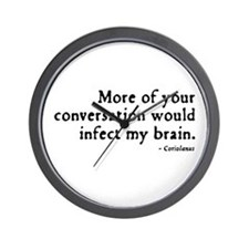 Coriolanus Insult Wall Clock