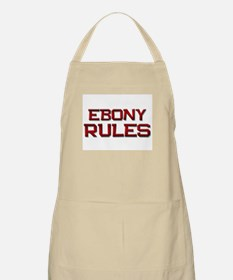ebony rules BBQ Apron