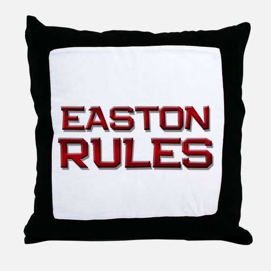 easton rules Throw Pillow