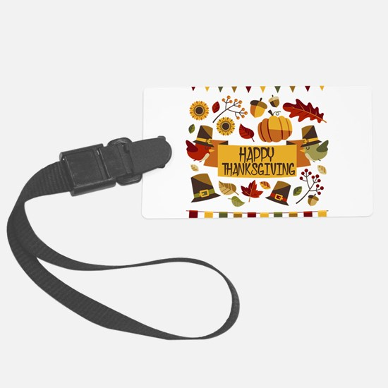 happy thanksgiving day! Luggage Tag