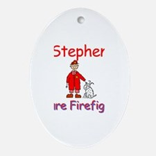 Stephen - Future Firefighter Oval Ornament