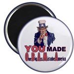 "Uncle Sam on Obama 2.25"" Magnet (10 pack)"