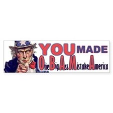 Uncle Sam on Obama Bumper Bumper Sticker