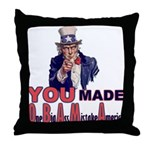 Uncle Sam on Obama Throw Pillow