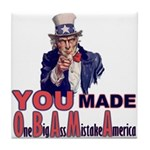 Uncle Sam on Obama Tile Coaster
