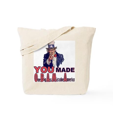 Uncle Sam on Obama Tote Bag