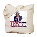 Uncle Sam on Obama Tote Bag