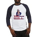 Uncle Sam on Obama Baseball Jersey
