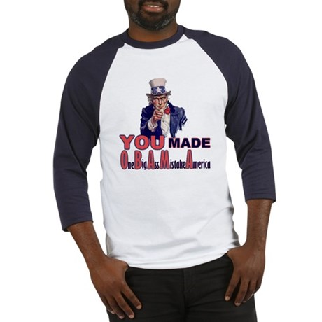 Uncle Sam on Obama Baseball Jersey