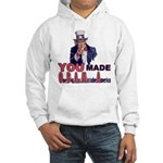 Uncle Sam on Obama Hooded Sweatshirt