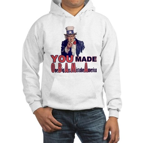 Uncle Sam on Obama Hooded Sweatshirt