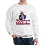 Uncle Sam on Obama Sweatshirt