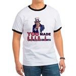 Uncle Sam on Obama Ringer T