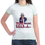 Uncle Sam on Obama Jr. Ringer T-Shirt