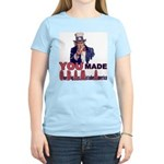 Uncle Sam on Obama Women's Light T-Shirt