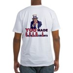Uncle Sam on Obama Fitted T-Shirt