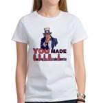 Uncle Sam on Obama Women's T-Shirt