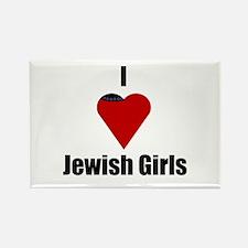 I Love (heart) Jewish Girls Rectangle Magnet