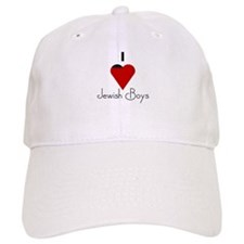 I Love (heart) Jewish Boys Baseball Cap