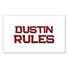 dustin rules Rectangle Decal