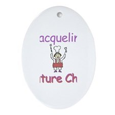 Jacqueline - Future Chef Oval Ornament