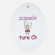 Jacqueline - Future Chef Oval Ornament
